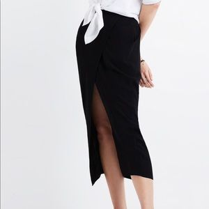 Madewell overlay midi skirt faux wrap size small
